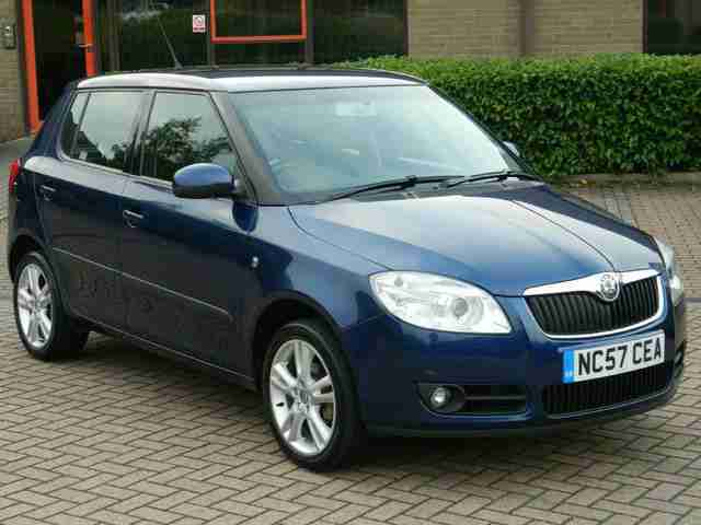 skoda 2008 57 reg fabia 1 4 tdi pd 3 80bhp 5dr car for sale. Black Bedroom Furniture Sets. Home Design Ideas