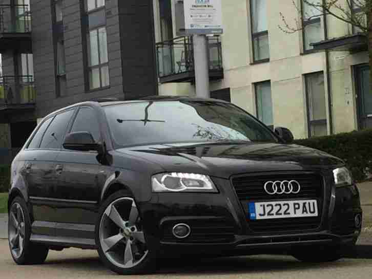2008 58 audi a3 s line 2 0tdi 140bhp black edition spec rotor alloys. Black Bedroom Furniture Sets. Home Design Ideas