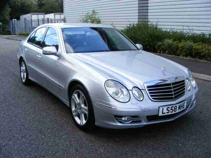 2008 58 mercedes e320 cdi avantgarde auto met silver with full black. Black Bedroom Furniture Sets. Home Design Ideas
