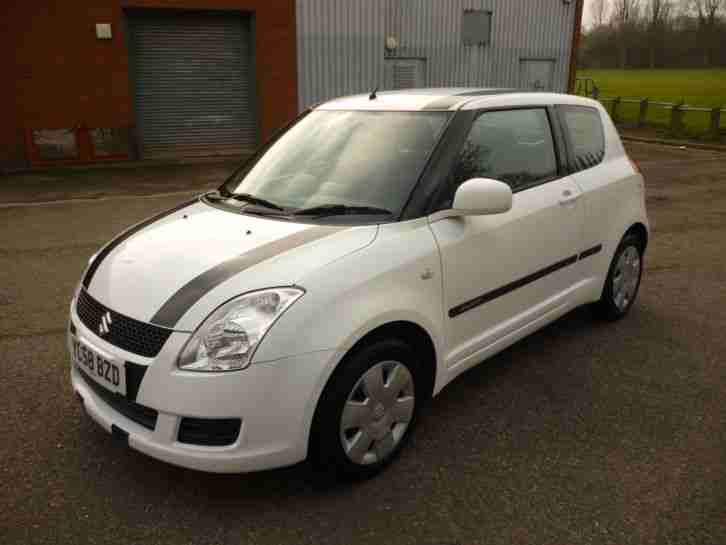 2008/58 Suzuki Swift 1.3 GL // ONE OWNER FROM NEW // WHITE //