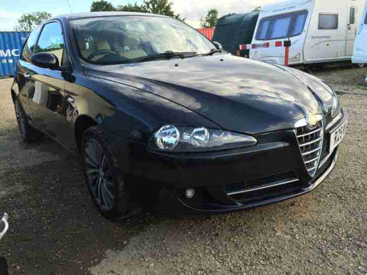 2008 ALFA ROMEO 147 COLLEZIONE TS BLACK LIMI SALVAGE DAMAGED REPAIR LOW MILAGE