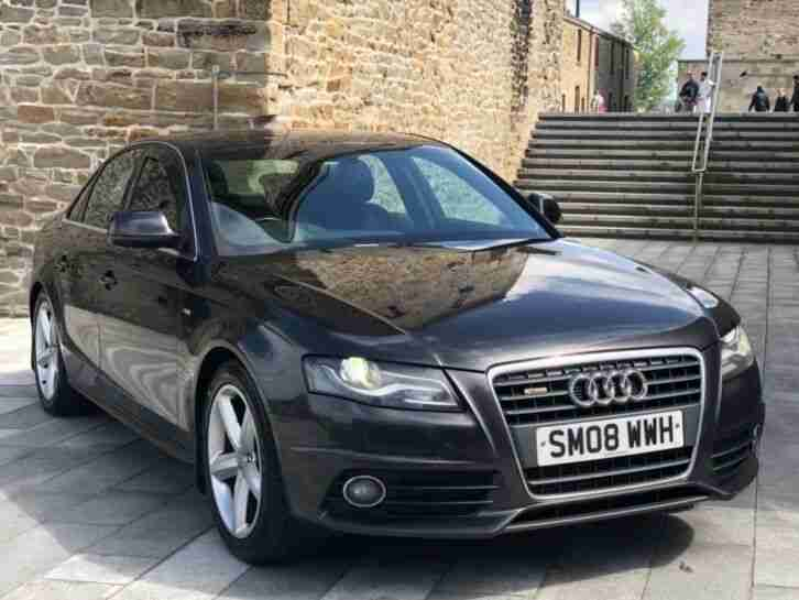 ✅ 2008 AUDI A4 S LINE 2.0 140 + XENONS + LEATHERS + LOW MILES + FULL SERVICE