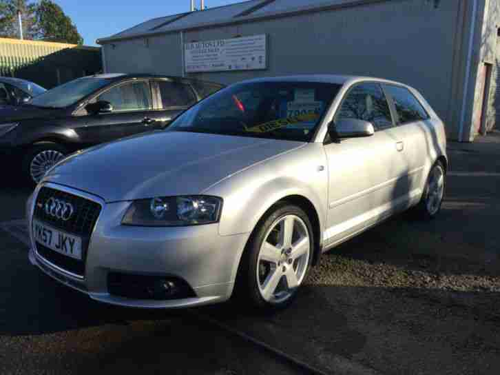 2008 Audi A3 2.0TDI S Line FSH (Audi) 2 Owners, Silver, Heated Leather, 6 Speed