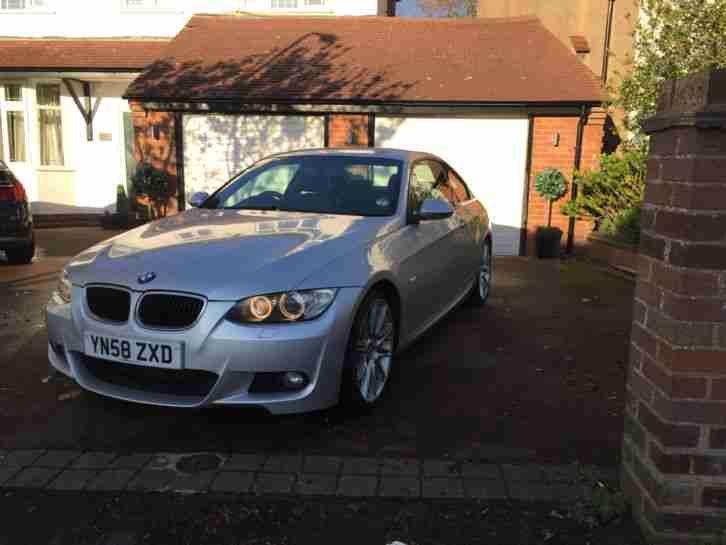 2008 320D M SPORT COUPE SILVER FSH