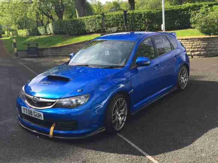 subaru 2008 blue impreza 2 5 wrx sti type uk prodrive performance. Black Bedroom Furniture Sets. Home Design Ideas