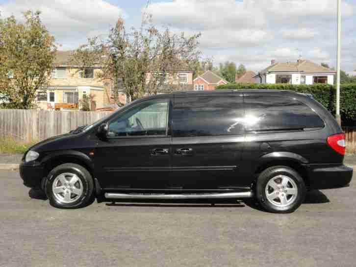 chrysler 2008 grand voyager executive xs 2 8 crd auto black car for sale. Black Bedroom Furniture Sets. Home Design Ideas