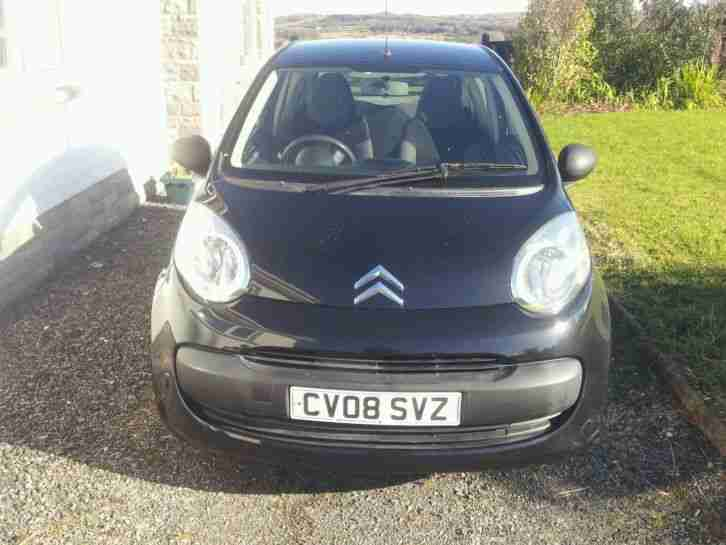 2008 CITROEN C1 VIBE BLACK £20 a year tax cheap insurance