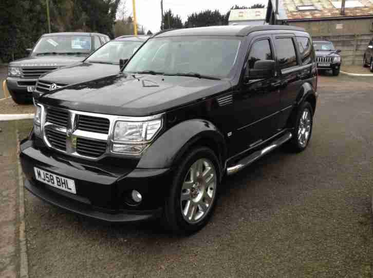 2008 dodge nitro 2 8 crd sxt 5dr automatic full leather car for sale. Black Bedroom Furniture Sets. Home Design Ideas
