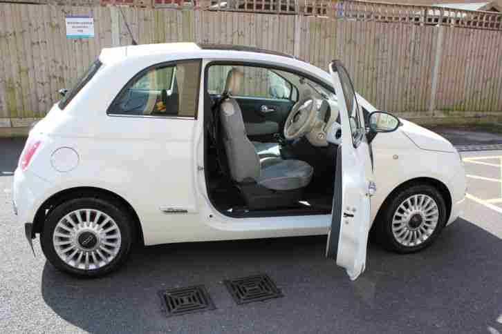 2008 FIAT 500 LOUNGE RHD WHITE