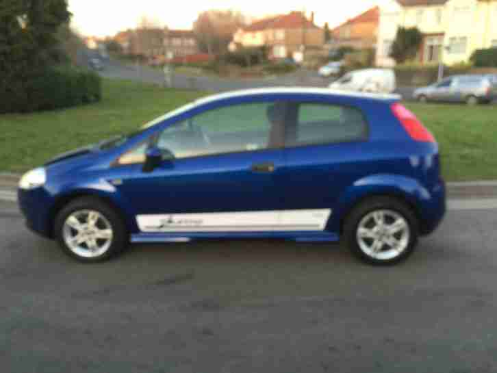 2008 FIAT GRANDE PUNTO ACTIVE 65 BLUE cheap insurance group Tax 1.2CC not Corsa