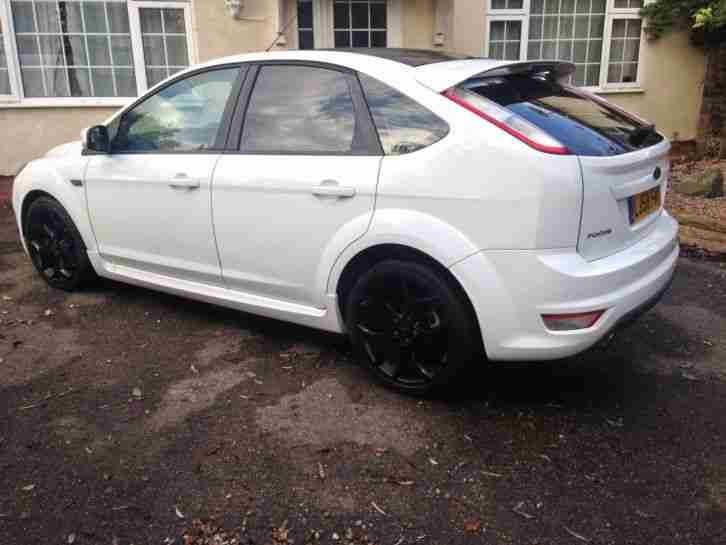 ford 2008 focus st 3 white 58 plate low mileage subtle mods car for sale. Black Bedroom Furniture Sets. Home Design Ideas