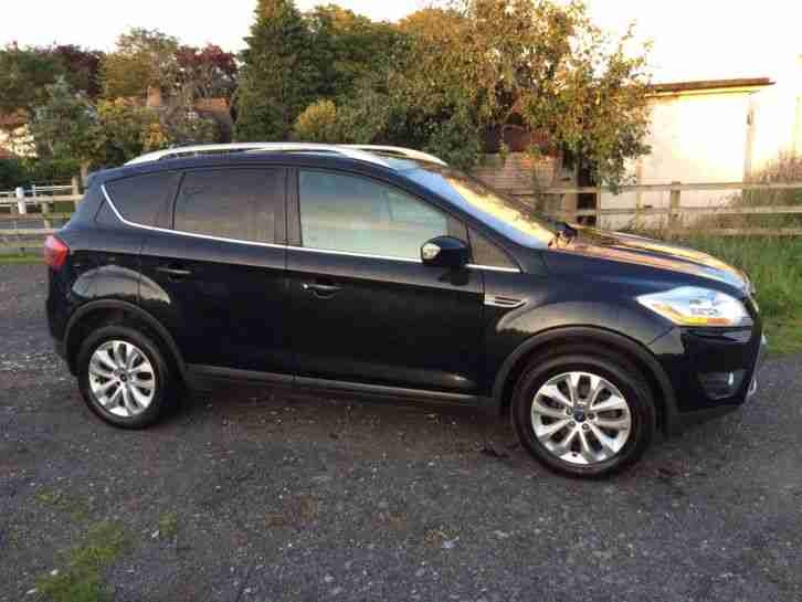 ford 2008 kuga titanium tdci black car for sale. Black Bedroom Furniture Sets. Home Design Ideas