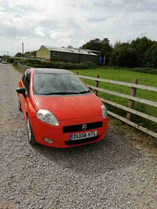 2008 Fiat Grande Punto Sporting 1.9 Multijet Orange