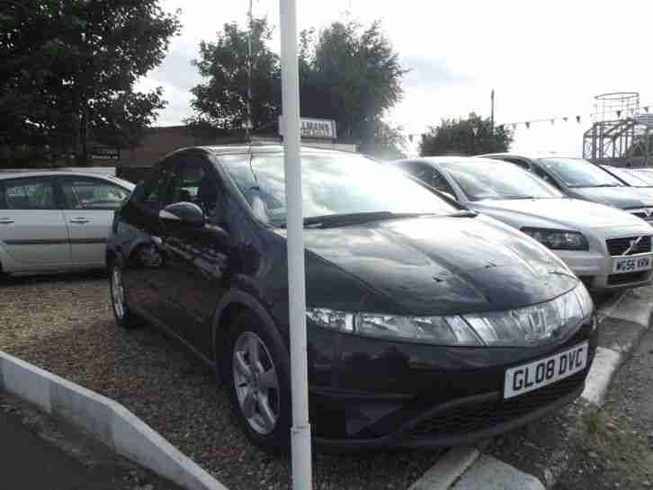 2008 HONDA CIVIC SE I-VTEC 1.8 LITRE 16 VALVE 6 SPEED MANUAL PETROL BLACK