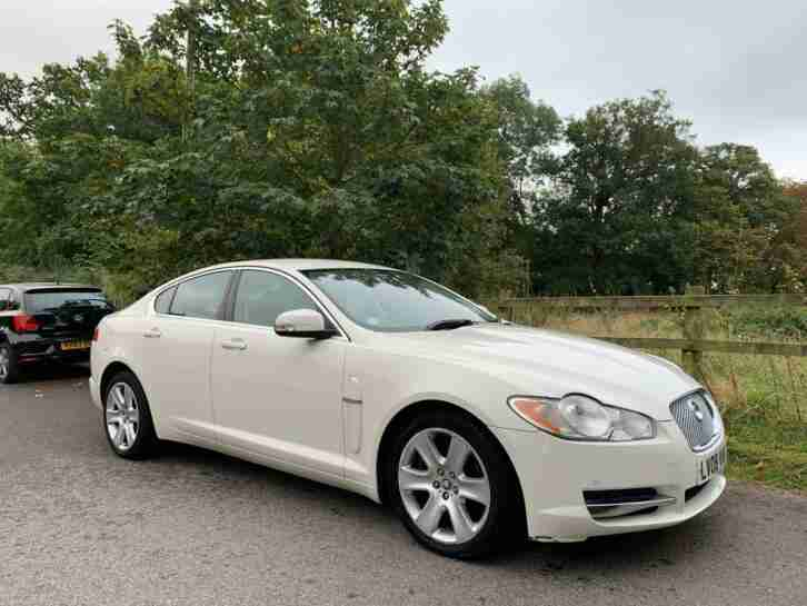 2008 XF 2.7d Luxury 4dr WHITE Auto