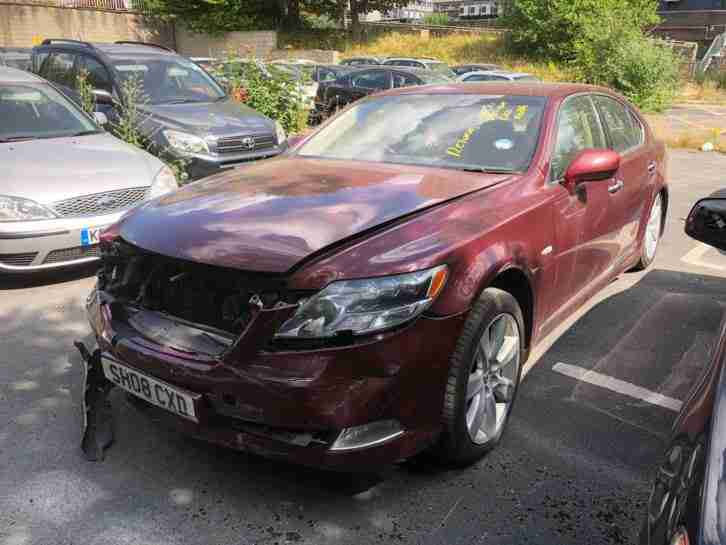 2008 Lexus LS600H HYBRID LWB Damaged Repairable Starts and Drives NO AIRBAGS