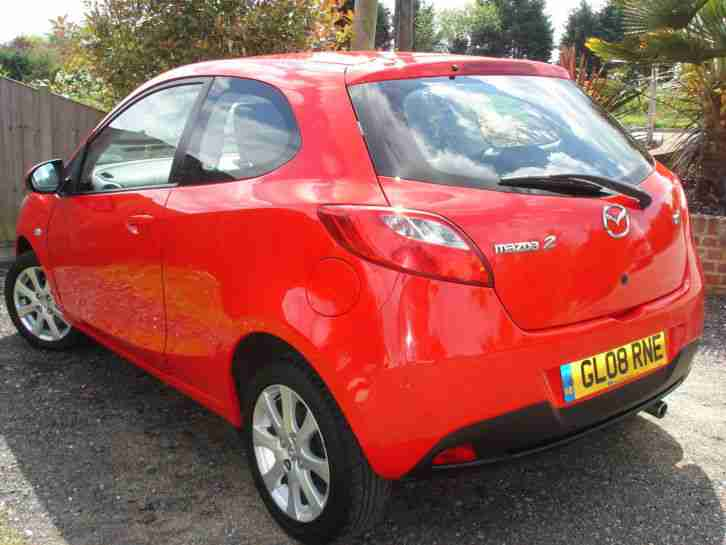 2008 MAZDA 2 TS2 1.3,AIR CON,Red