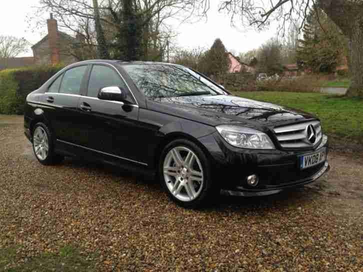 2008 mercedes c200 sport cdi a black car for sale. Black Bedroom Furniture Sets. Home Design Ideas