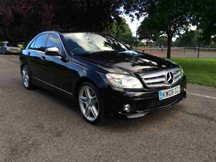 2008 mercedes c320 v6 amg sport cdi auto black sat nav amg alloys top. Black Bedroom Furniture Sets. Home Design Ideas