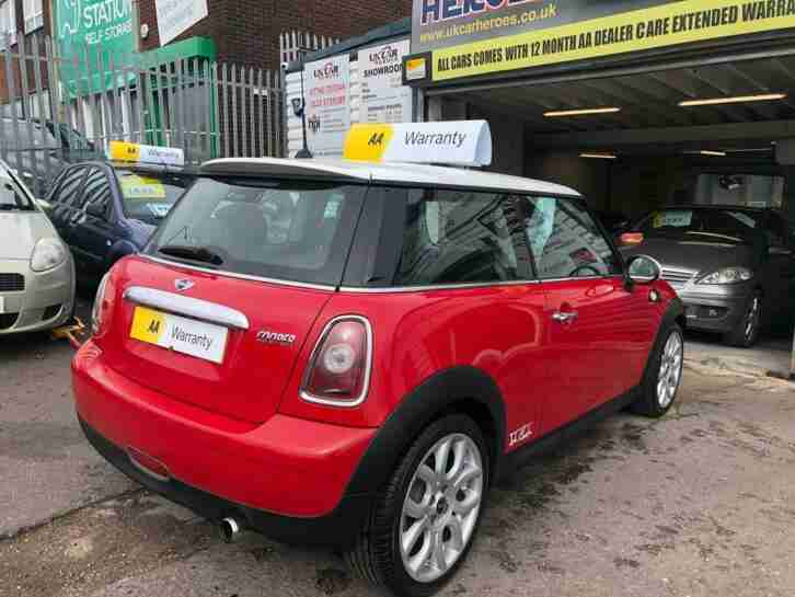 2008 MINI COOPER 1.6 PETROL 120 COOPER BRITISH RED ( AA ) WARRANTY INCLUDED