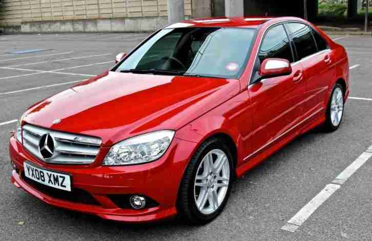 Mercedes benz 2008 c class c220 cdi sport 4dr red car for for Mercedes benz c220 cdi for sale
