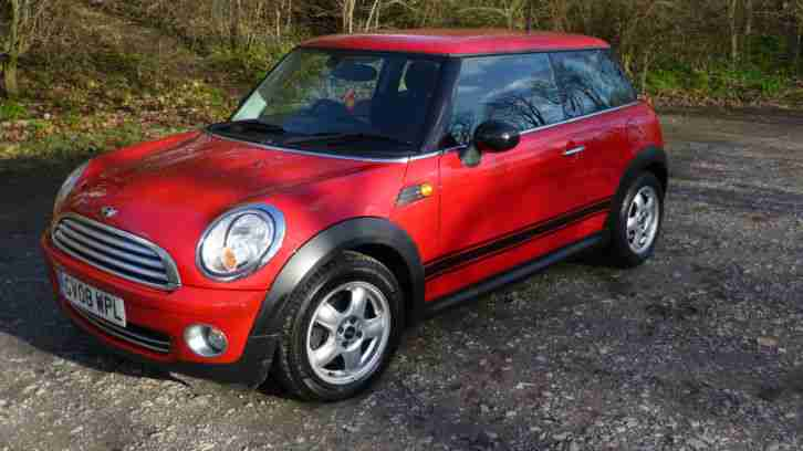 2008 Mini One 1.4 petrol 3 door hatchback Chilli Red ***Low miles***