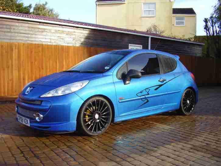 peugeot 2008 207 sport xs 150 met blue full leather trim car for sale. Black Bedroom Furniture Sets. Home Design Ideas