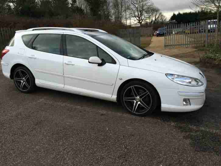 2008 PEUGEOT 407 GT SW HDI WHITE original colour