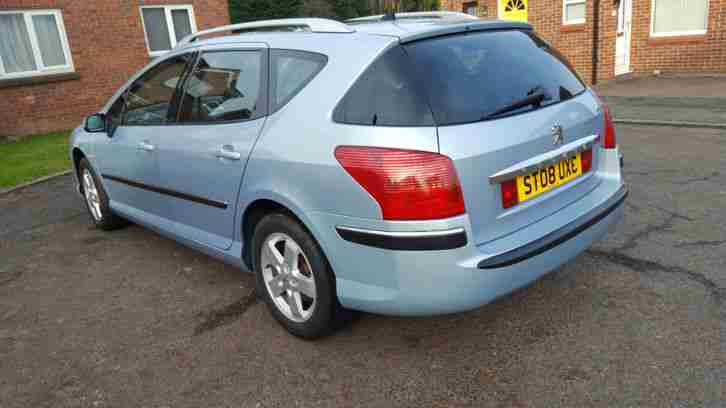 2008 PEUGEOT 407 SW SE HDI SILVER