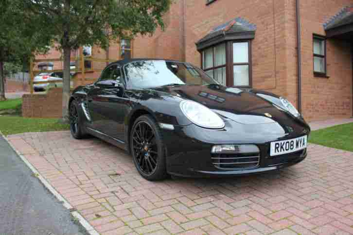 2008 PORSCHE BOXSTER 3.4 S BLACK 290bhp #IMMACULATE