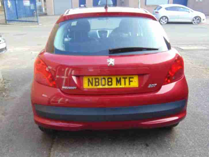 ++ 2008 Peugeot 207 MK1 1.4 Cielo 5dr Red Manual Petrol Pan Roof 307 208 308 ++