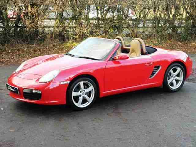2008 Porsche Boxster 2.7 Manual Guards Red Sand Biege Leather Rare & Stunning!