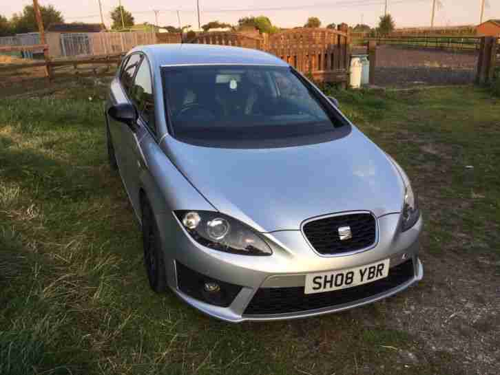 seat 2008 leon fr 2 0 tdi 170 bhp 5dr silver 74k miles no reserve. Black Bedroom Furniture Sets. Home Design Ideas