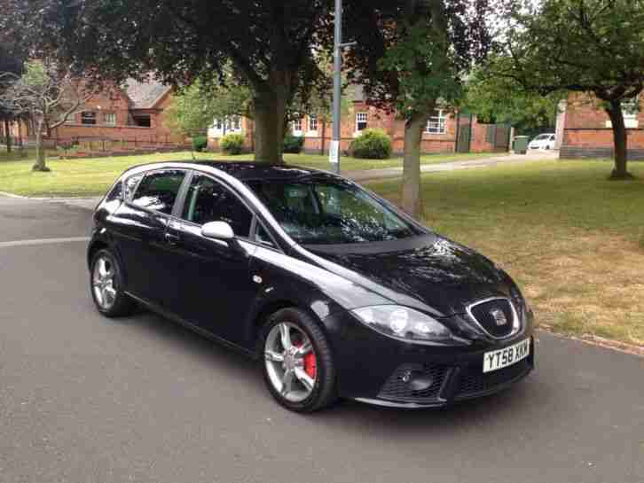 Seat 2008 Leon Fr Tdi Black 200 Bhp No Reserve Car For Sale