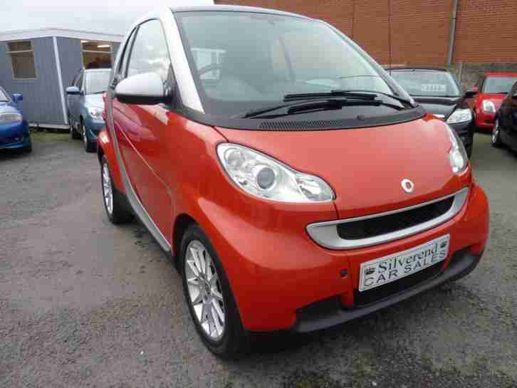 2008 SMART FORTWO COUPE Passion Auto 46000 MILES