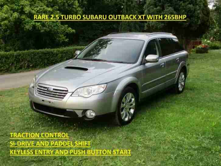 2008 SUBARU OUTBACK 2.5 XT TURBO WITH CRUISE CONTROL & Si DRIVE, LEGACY SPEC B