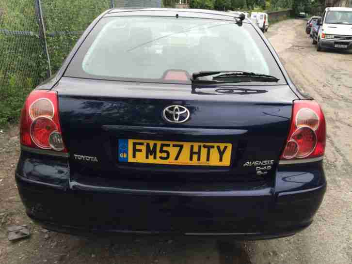 2008 Toyota Avensis 2.0 T3-S D4D Blue Breaking Dewsbury