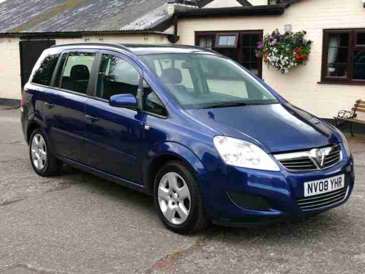 vauxhall 2008 zafira 1 6 exclusiv 7 seater mpv car for sale. Black Bedroom Furniture Sets. Home Design Ideas