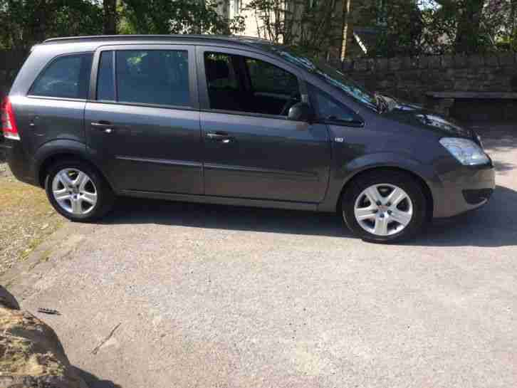 2008 VAUXHALL ZAFIRA EXCLUSIVE 1.9 CDTI AUTOMATIC 7 SEATS IN GREY