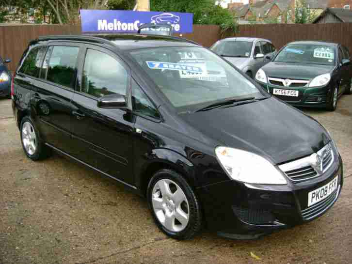 2008 Vauxhall Zafira Exclusive 7 Seater Mpv Car For Sale