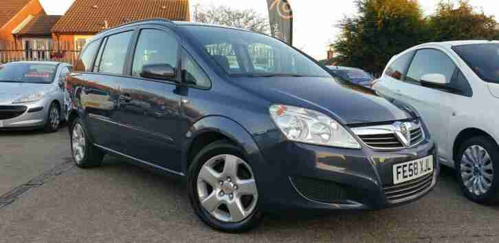 2008 Vauxhall Zafira 1.6 16v Exclusiv Very Low Mileage Only 48k BLUETOOTH