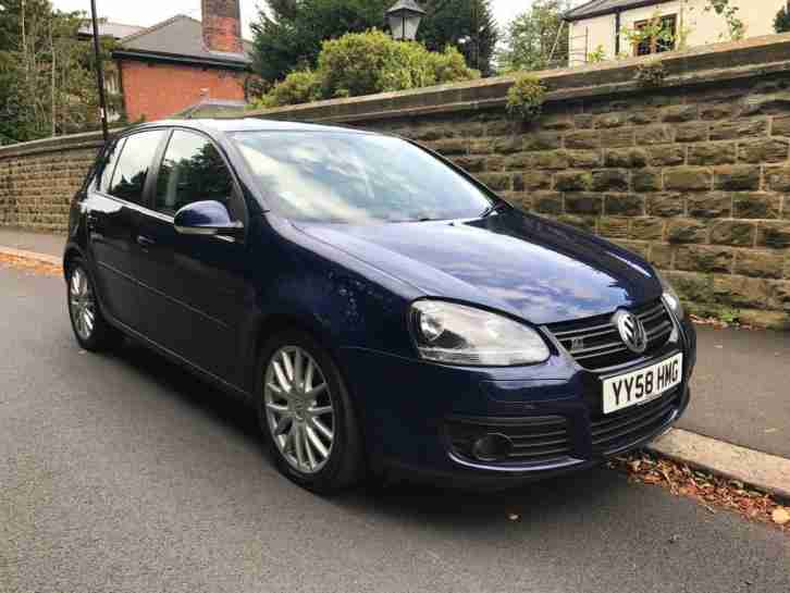 volkswagen 2008 golf 2 0 tdi 140 gt 5dr diesel blue manual car for sale. Black Bedroom Furniture Sets. Home Design Ideas