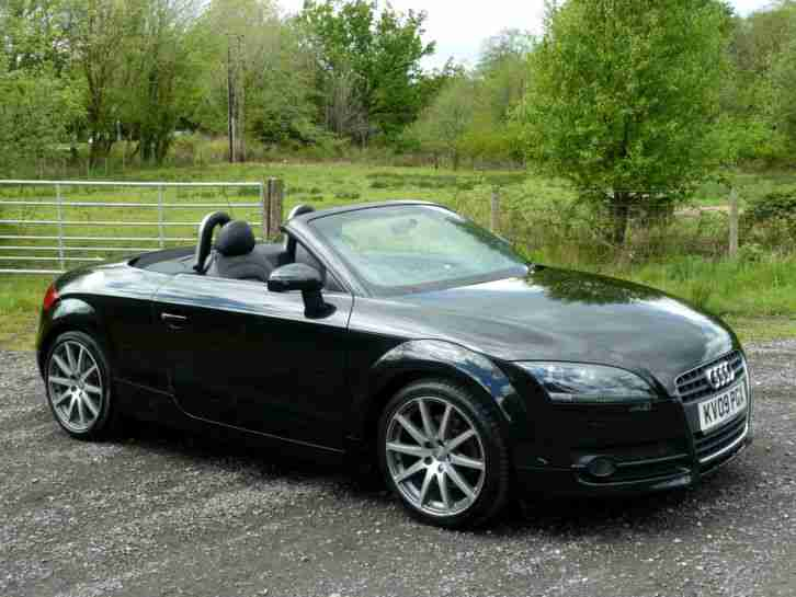 audi 2009 09 tt roadster 2 0 t fsi 200 ps black convertible car for sale. Black Bedroom Furniture Sets. Home Design Ideas