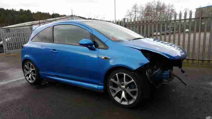 2009 09 REG VAUXHALL CORSA VXR 1.6i TURBO 16v DAMAGED REPAIRABLE SALVAGE