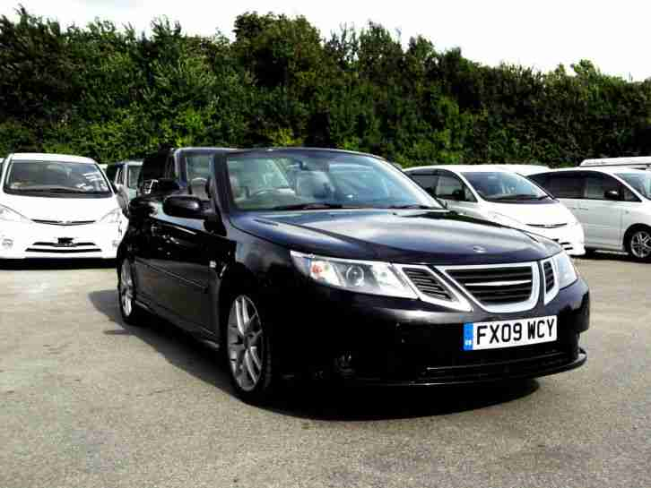 2009 09 SAAB 9 3 1.8T TURBO VECTOR 2+2 CONVERTIBLE BLACK PX SWAP SWOP