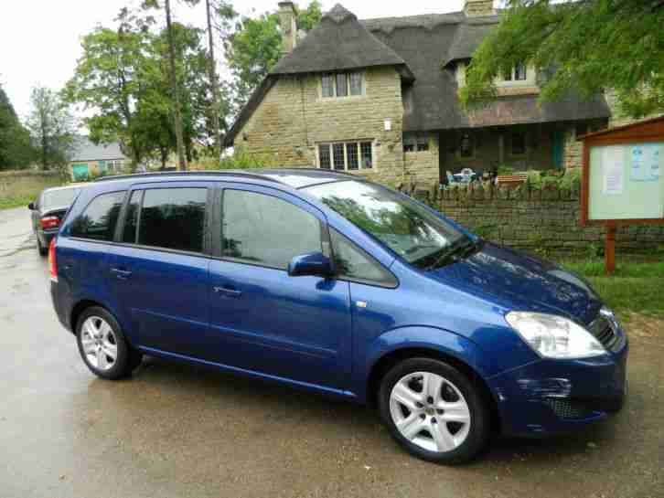 2009 09 vauxhall zafira 1 9 cdti turbo diesel exclusive 7 seat. Black Bedroom Furniture Sets. Home Design Ideas