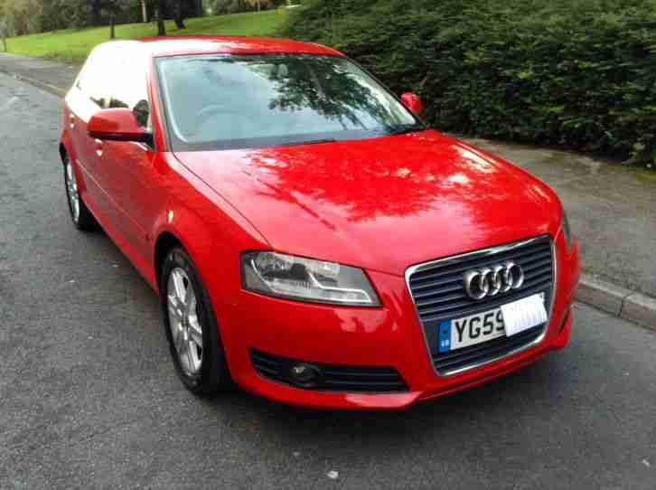 audi 2009 59 a3 140 2 0 tdi sportback red car for sale. Black Bedroom Furniture Sets. Home Design Ideas