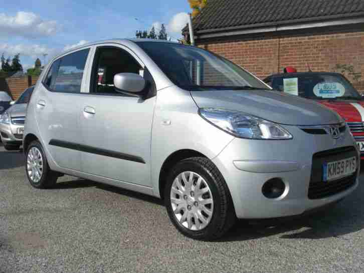 2009(59)Hyundai i10 1.1 ES Silver 5dr,£30 TAX,ONE LADY OWNER,43k,FSH