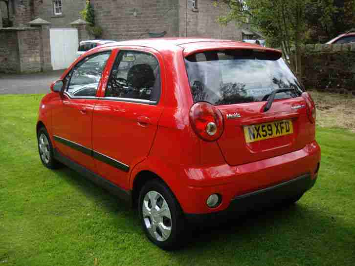 2009 59 reg chevrolet matiz 1 0 se 5 door in guards red car for sale. Black Bedroom Furniture Sets. Home Design Ideas