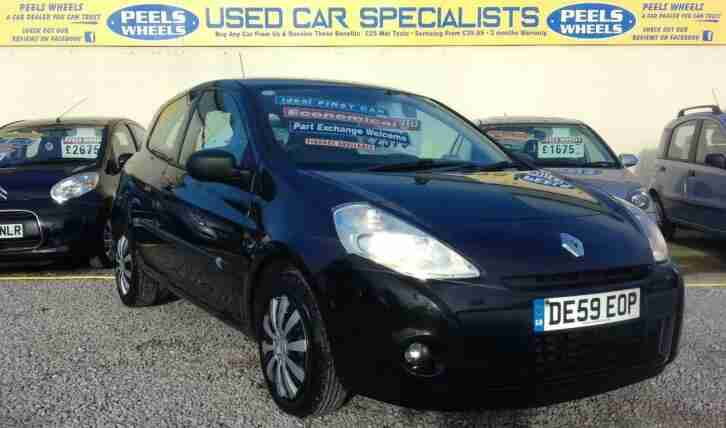 2009 (59) RENAULT CLIO EXTREME 1.2 16v BLACK IDEAL FIRST CAR 1 OWNER CAR
